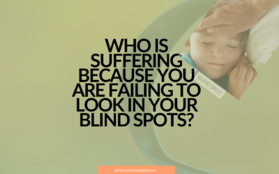 Who is suffering because you are failing to look in your blind spot?